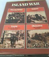 ISLAND WAR Four Pacific Battles Okinawa Leyte War Simulation Game SPI WWII 1975