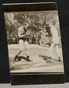 Circa 1905-1910, Jim Jeffries & Samuel Berger, Original Boxing Sparring Photo