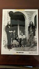 The Beatles Apple Records Promo B&W 8 X10 Photo Poss Fan Club? Vhtf Rare!