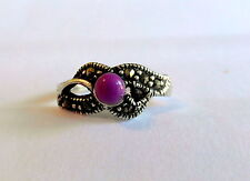 Sterling Silver (925) Adjustable  Toe Ring  With Purple Stone  !!   New !!