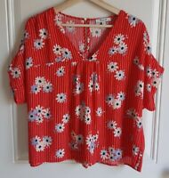 Madewell Womens Floral Oversized Daisy Society Rhyme Top Shirt Blouse Size Small