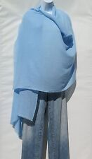 100% Cashmere|Himalayan|Shawl/Scarf|Lightweight|1Ply|Handloomed|Shade Baby Blue