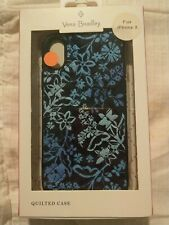 Vera Bradley Blue Floral Quilted Phone Case for iPhone X (NEW)