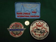 FORD THUNDERBIRD INTERNATIONAL 1978 1980 1982 CONVENTION PATCHES TORONTO DALLAS