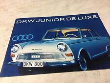 DKW Junior De Luxe prospectus brochure dépliant publicité automobile vintage