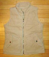 Lauren Jeans Co. Ralph Lauren Women's Tan Corduroy Puffer Vest Full Zip Med EUC