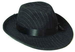 Gangster Hut Anzug Kostüm Mafia 20 er 30 er Jahre Al Capone Ganove Gangsterhut