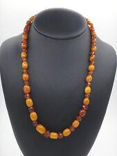 Très beau collier ancien en perle d'ambre de la Baltique Art Deco 1930