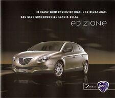 Prospekt / Brochure Lancia Delta Edizione 10/2009