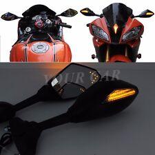 LED INTERGRATED TURN SIGNAL MIRRORS FOR KAWASAKI Ninja 300 Ninja 250R ZX-6R ABS