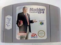gioco Madden Football 64 per nintendo 64 n64