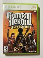 Guitar Hero III: Legends of Rock 3 (Xbox 360) -w/ Manual & Tested-FAST SHIPPING