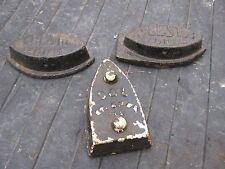 3 pcs Antique Vintage Rusty Rustic Clothes Hand Sad Iron no handle Asbestos Bal