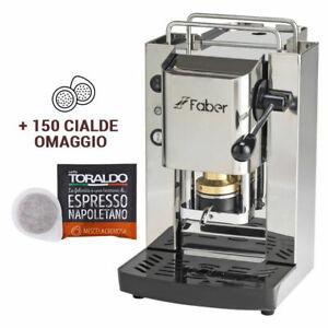 Macchina Caffè Faber Pro Series Total Inox + 150 Cialde Toraldo