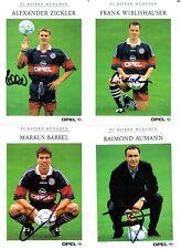 Zickler/Babbel/ Aumann/Wiblishauser AK 97/98 Bayern München mit original Unters.