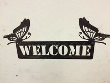 Butterfly Welcome Sign, Metal Welcome sign, garden