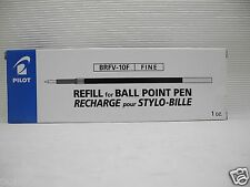 12pc Pilot BRFV-10F 0.7mm ball pen only refill Blue for Acroball ball pen(Japan)