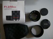 Samyang 50mm f/1.2 AS UMC CS Micro Four Thirds M43 MFT Olympus/Panasonic Lens