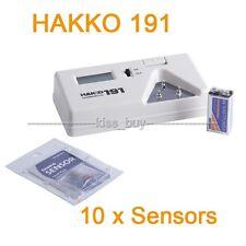 HAKKO 191 Tip Thermometer Solder Iron Tip Digital Tester + 10pcs x Sensors
