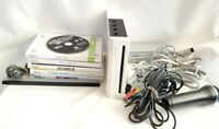 Nintendo Wii RVL-001 Console Cords Microphone Games Working Dance Workout
