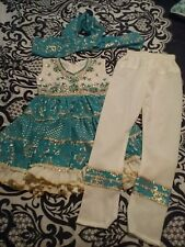 Beaded cultural Indian Gypsy Belly Dancer 3pc Costume Halloween 4 5