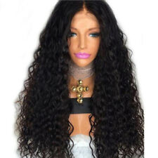 Lace Front Human Hair Wigs for Black Women Deep Wave Curly  Frontal Bob Wig S7O9