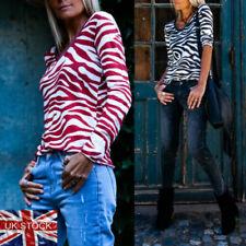 Animal Print Zebra Tops & Shirts for Women