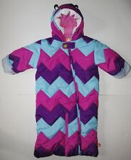 Crocs Infant Baby Girl's Winter Bunting Snowsuit Pram Coat Bag Chevron 9 Months