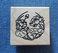 Mari & Me  Sm Lotus Blossoms Rubber Stamp Asian Oriental Japanese Chinese