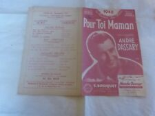 ANDRE DASSARY - Partition POUR TOI MAMAN !!!