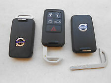 (3) VOLVO 5 BUTTON REMOTE TRANSPONDER KEYS OEM