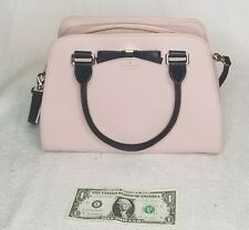 Wow! Kate Spade  Tote- Pink Pebbled Leather/Black bow