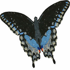 Handmade Butterfly Blue Black Nature Garden Decor Marble Mosaic An1037