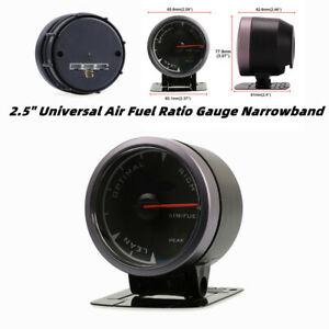 "2.5"" Universal Air Fuel Ratio Gauge Narrowband Pointer O2 A/FR LED Meter Monitor"