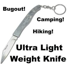 Stainless Steel Folding Light Weight Pocket Knife Camping Hiking Bugout KeyChain