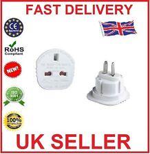 UK3 Pin To us 2Pin Travel Plug Adaptor AUS Japan Canada New Continental Adaptor