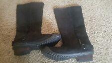 Sorel tall Women leather Slim Boot 8US duck clog rubber fashion black  6UK 39EU