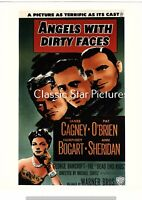A558 James Cagney Humphrey Bogart Angels with Dirty Faces 1938 color playbill