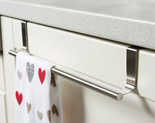 Over Cabinet Tea Towel Bar Kitchen Protects Cabinets No Nails Dish Cloth