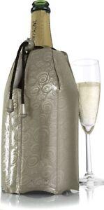 Vacu Vin Rapid Ice Champagne Cooler, Platinum