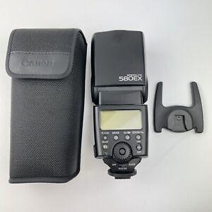 Cased Canon Speedlite 580ex Flash With Mount Working
