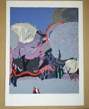Lithograph Pink Floral Art Prints
