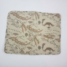 Tommy Bahama Cream Antique Map Pillow Sham Caribbean Standard Size
