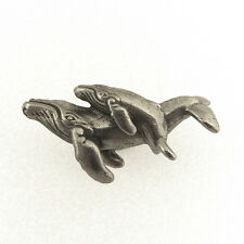 Humpback Whale with Calf Drawer Pull - Cetacean Cabinet Knob