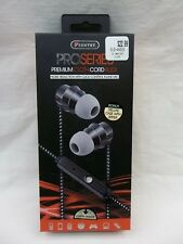 SENTRY PRO SERIES PREMIUM CLOTH CORD BUDS NOISE REDUCTION IN-LINE MIC WITH CASE