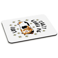 Crazy Guinea Pig Lady Stars PC Computer Mouse Mat Pad - Funny Animal