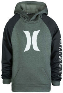 New! Boy Hurley Nike Dri-Fit ZipUp Hoodie Two Toned Athletic S19