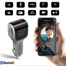 Bluetooth Car FM Transmitter Radio USB Charge for iPhone XS XR Samsung S10 S9 S8
