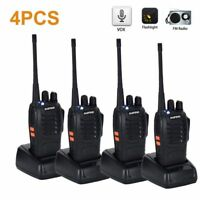 4* Baofeng BF-888S UHF 400-470 MHz Portable 2-Way Radio Walkie Talkie Long Range
