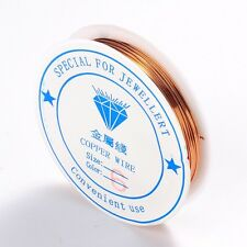 1 x 8M ROLL Copper Plated Copper Wire 0.6mm Nickel Free Jewellery Craft Making